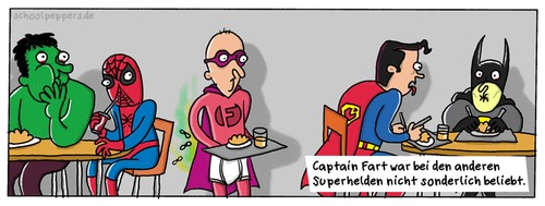 Cartoon: Schoolpeppers 59 (medium) by Schoolpeppers tagged flatulenz,superhelden