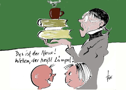Cartoon: Lehrermangel (medium) by tiede tagged lehrermangel,lehrer,lämpel,tiede,cartoon,karikatur,lehrermangel,lehrer,lämpel,tiede,cartoon,karikatur