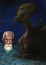 Cartoon: Sigmund Freud (small) by tiede tagged freud sigmundfreud psychoanalyse psychoanalysis tiefenpsychologie sphinx psychotherapie tiedemann tiede