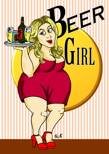 Cartoon: Beer Girl (medium) by Guto Camargo tagged cerveja,mulher,propaganda,marketing,consumo