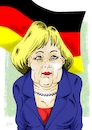 Cartoon: Angela Merkel (small) by Guto Camargo tagged caricature