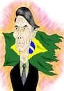 Cartoon: Bolsonaro - president of Brazil (small) by Guto Camargo tagged brazil,bolsonaro,president