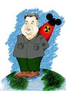 Cartoon: Kim Jong-un (small) by Guto Camargo tagged coreia korea kin missel caricature