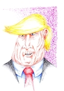 Cartoon: Trump (small) by Guto Camargo tagged trump,caricatura,desenho,politica,presidente,eua