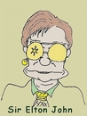 Cartoon: Elton John (small) by michaskarikaturen tagged karikatur,elton,john