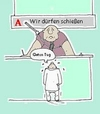 Cartoon: Empfang im Jobcenter (small) by michaskarikaturen tagged harz4,jobcenter