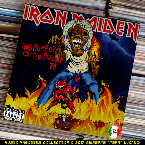 Cartoon: Iron Maiden - The Number of the (medium) by Peps tagged iron,maiden,the,number,of,parody