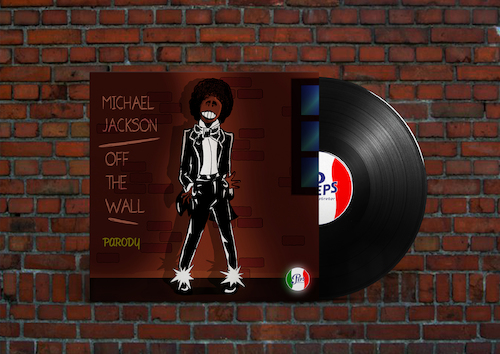 Cartoon: Michael Jackson - Off The Wall (medium) by Peps tagged michael,jackson,off,the,wall