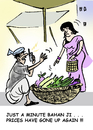 Cartoon: inflation in India (small) by shyamjagota tagged indian,cartoonist,shyam,jagota