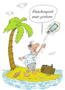 Cartoon: Flaschenpost-Handy (small) by BuBE tagged flaschenpost,handy,insel,inselwitz,nachricht