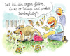Cartoon: Biopiesel (small) by REIBEL tagged biodiesel,vegan,natur,kraftstoff,hund,garten,auto,antrieb
