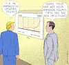 Cartoon: Trump Enjoys Chart (small) by Barthold tagged donald,trump,jared,kushner,corona,pandemic,mitigation,measures,infection,rate,lock,down,economy,preference,reelection,republican,governors,footmen,caricature,barthold
