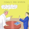 Cartoon: US Withdrawal f. Par. Cl. Treaty (small) by Barthold tagged trump,donald,barron,global,klimate,report,un,paris,climate,treaty,agreement,withdrawal,formal,submission,white,bathrobe