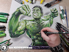 Cartoon: Drawing Hulk - 3D Comics (small) by Art by Mihai Alin Ion tagged drawing illustration painting 3dart mihaialinion pencildrawing comicbook comics incrediblehulk thehulkk drawinghulk brucebanner marvel superheroes