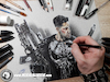 Cartoon: Drawing Punisher - 3D Comics (small) by Art by Mihai Alin Ion tagged drawing painting illustration 3dart artwork marvel netflix the punisher frankcastle castiglione comicbook marvelcomics punishercomics drawingthepunisher