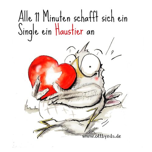 Cartoon: Valentinestag (medium) by OTTbyrds tagged valentinstag,valetinesday,parship,singles,beziehungen,einsamkeit,lonliness