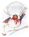 Cartoon: loving chrismas (small) by OTTbyrds tagged christmas,weihnachten,weihnachtsgefühl,frohes,fest
