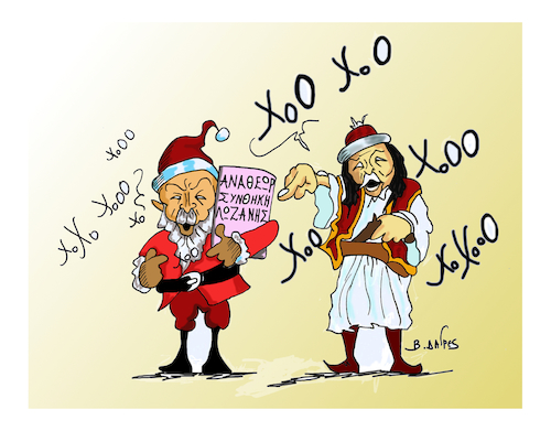 Cartoon: ERNTOGAN  santa claus (medium) by vasilis dagres tagged erntogan,nato,european,union,greece,turkey