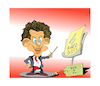 Cartoon: ELECTION IN AUSTRIA (small) by vasilis dagres tagged sebastian,kurts