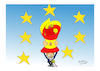 Cartoon: SPAIN AND KATALONIA (small) by vasilis dagres tagged spain,katalonia