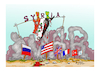 Cartoon: syria (small) by vasilis dagres tagged syria,america,russia,england,france,turkey,israel
