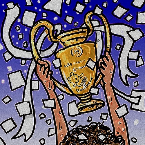 Cartoon: Real Madrid (medium) by takeshioekaki tagged lisboa,lisbon,2014,cup,atletico,final,league,champions,madrid,real,cl,illustration,comic,caricature,drawing,cartoon,soccer,football,gale,ronaldo
