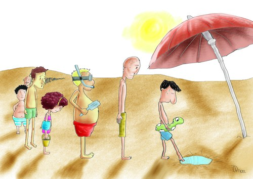 Cartoon: Life Without Water 2 (medium) by Orhan ATES tagged water,life,human,nature,world,danger,swim,pool,summer,temperature,global
