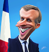 Cartoon: Emmanuel Macron (small) by Ahmed Mostafa tagged emmanuel,macron