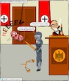 Cartoon: -attac- judgement (small) by Cory Spencer tagged attac,justice,commongood,germany