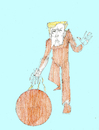 Cartoon: bowling (small) by herranderl tagged trump,welt