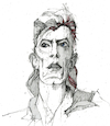 Cartoon: David Bowie (small) by herranderl tagged david,bowie