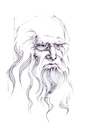 Cartoon: Leonardo da Vinci (small) by herranderl tagged leonardo,da,vinci