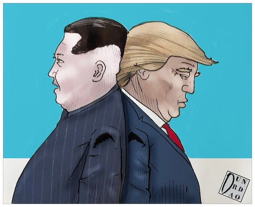 Cartoon: second round (medium) by Christi tagged trump,kim