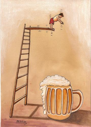 Cartoon: beer (medium) by menekse cam tagged beer