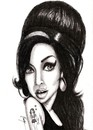 Cartoon: Amy (small) by menekse cam tagged amy,winehouse,singer,songwriter,british,soul,jazz,england,star,drug,death,kadin,sarkc