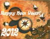 Cartoon: Happy New Year! (small) by menekse cam tagged wish peace health happiness success luck new year