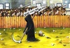 Cartoon: No War2 (small) by menekse cam tagged love,war,people,world,activists,the,angel,of,death,golf