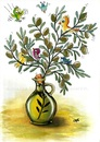 Cartoon: Olive oil is the life (small) by menekse cam tagged olive,oil,cyprus,festival,cartoon,contest,tree,birds