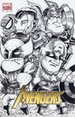 Cartoon: Avengers sketch cover (small) by bennaccartoons tagged marvel,heroes,comicbook