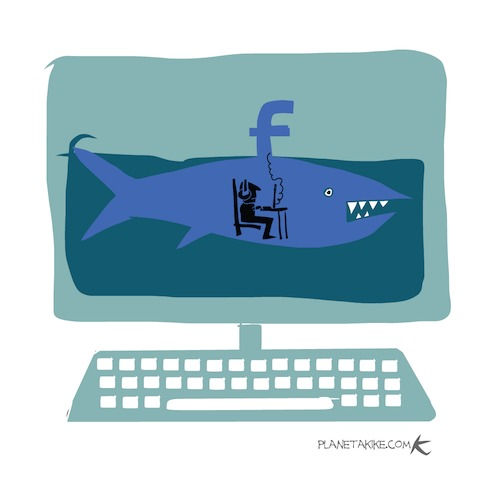 Cartoon: FB (medium) by Kike Estrada tagged facebook,information,privacy