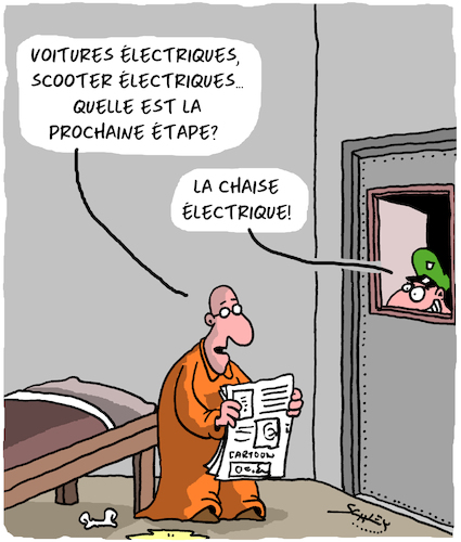 Cartoon: Electrique (medium) by Karsten tagged trafic,energie,climat,prisons,justice,captives,sentence,de,mort,trafic,energie,climat,prisons,justice,captives,sentence,de,mort