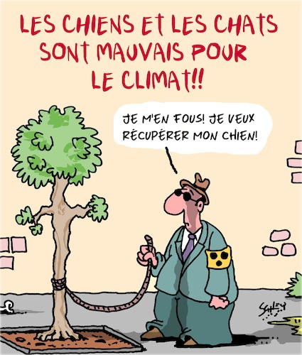 Cartoon: Les Chats et les Chiens (medium) by Karsten tagged animaux,climat,environnement,carnivores,chiens,aveugles,les,animaux,climat,environnement,carnivores,chiens,aveugles