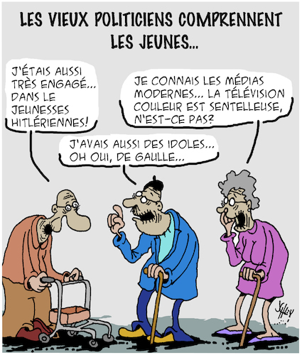 Cartoon: Les Jeunes (medium) by Karsten tagged politiciens,les,jeunes,arrogance,conflits,elections,europe,politiciens,les,jeunes,arrogance,conflits,elections,europe