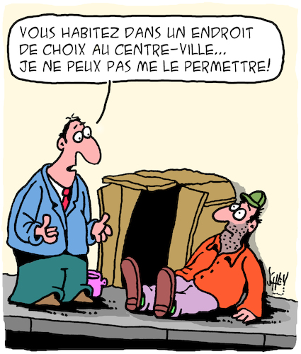 Cartoon: Loyers (medium) by Karsten tagged sans,abrisme,pauvrete,revenu,economie,capitalisme,propriete,politique,sans,abrisme,pauvrete,revenu,economie,capitalisme,propriete,politique