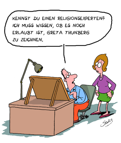 Cartoon: Religion (medium) by Karsten tagged greta,umwelt,medien,religion,karikaturen,cartoonisten,personenkult,prominente,gesellschaft,greta,umwelt,medien,religion,karikaturen,cartoonisten,personenkult,prominente,gesellschaft