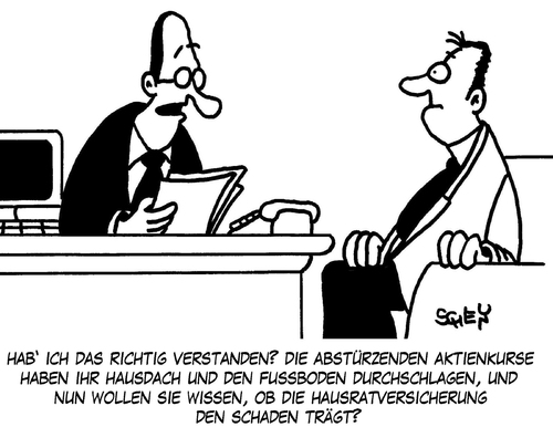 Cartoon: Schaden (medium) by Karsten tagged versicherungen,geld,wirtschaft,business,finanzkrise,börsencrash,börsenkurse,börse,aktienkurse,aktien,aktienkurse,börse,börsenkurse,bärsencrash,finanzkrise,business,aktien