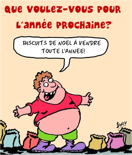 Cartoon: Voeux du Nouvel An (medium) by Karsten tagged noel,souhaits,surpoids,alimentation,sante,noel,souhaits,surpoids,alimentation,sante
