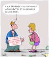 Cartoon: Allergies (small) by Karsten tagged medical,medias,allergies,communication,ironie,humour,femmes,hommes