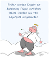 Cartoon: Belohnung (small) by Karsten tagged lagerfeld,tod,engel,paradies,mode,kleidung,business,marketing,religion,mythen,gesellschaft