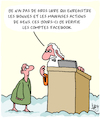 Cartoon: Bien et Mal (small) by Karsten tagged religion,saint,pierre,bien,mal,peches,technologie,internet,ordinateurs,facebook